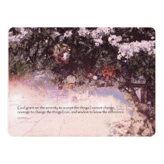 Serenity Prayer Blossoms and Lanterns Card