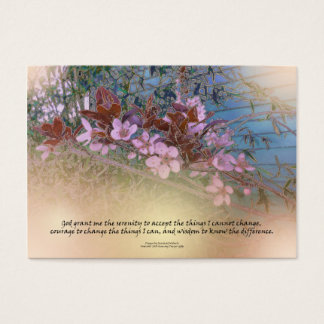 Serenity Prayer Blossoms Blue House Business Card