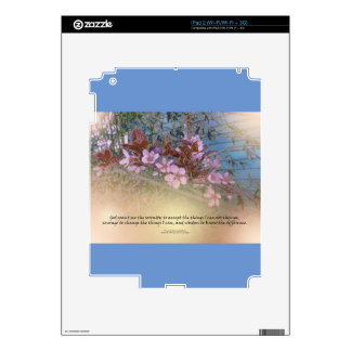 Serenity Prayer Blossoms Blue House Skins For iPad 2