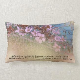 Serenity Prayer Blossoms Blue House Throw Pillows