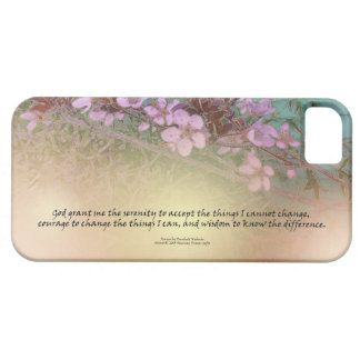 Serenity Prayer Blossoms Green House iPhone 5 Cases