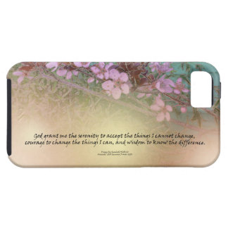 Serenity Prayer Blossoms Green House iPhone SE/5/5s Case