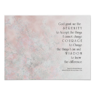 Serenity Prayer Blossoms Print