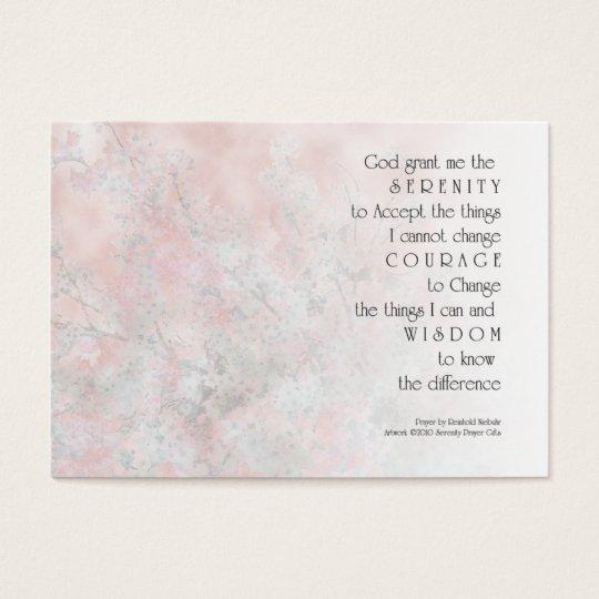 Serenity Prayer Blossoms Profile Card
