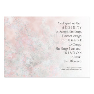 Serenity Prayer Blossoms Profile Card Large Business Cards (Pack Of 100)