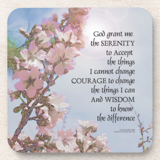 Serenity Prayer Blossoms Sky Tree Coaster