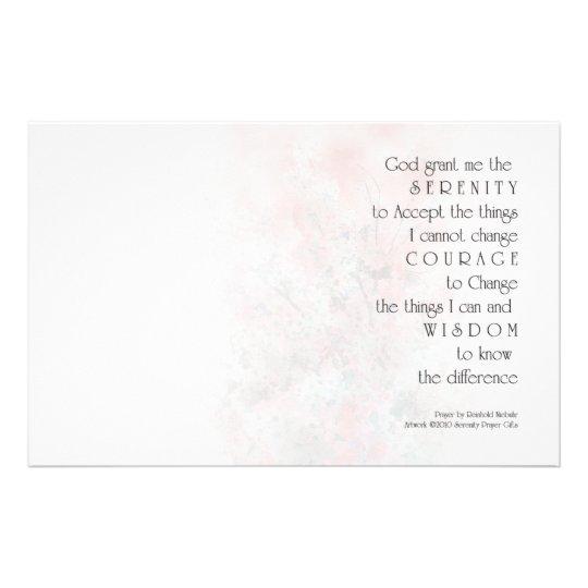 Serenity Prayer Blossoms Stationery