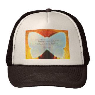 Serenity Prayer Blue Butterfly Hat