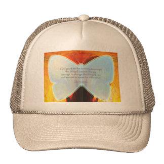 Serenity Prayer Blue Butterfly Hats