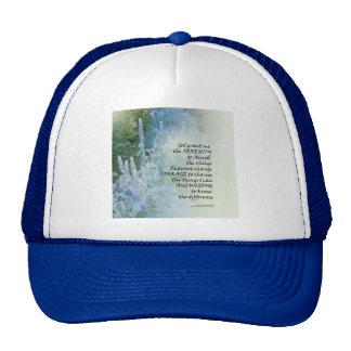Serenity Prayer Blue Cone Flowers Trucker Hat