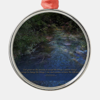 Serenity Prayer Blue Creek Metal Ornament