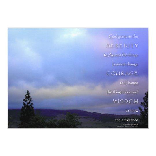 Serenity Prayer Blue Daybreak Invitation