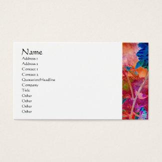 Serenity Prayer Blue Flowers Profile Card