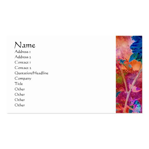 Serenity Prayer Blue Flowers Profile Card Double-Sided Standard Business Cards (Pack Of 100)