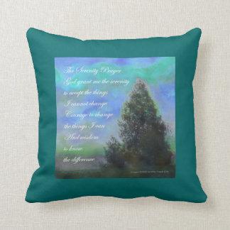 Serenity Prayer Blue Green American MoJo Pillow
