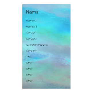 Serenity Prayer Blue Green Double-Sided Standard Business Cards (Pack Of 100)