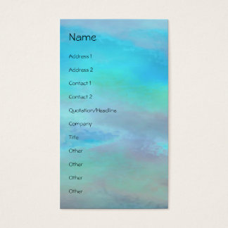 Serenity Prayer Blue Green Business Card