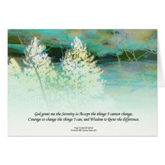 Serenity Prayer Blue Green Card