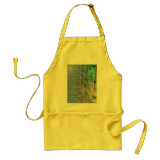 Serenity Prayer Blue Green Fence and Weeds Adult Apron