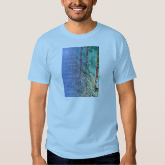 Serenity Prayer Blue Green Fence and Weeds T Shirt