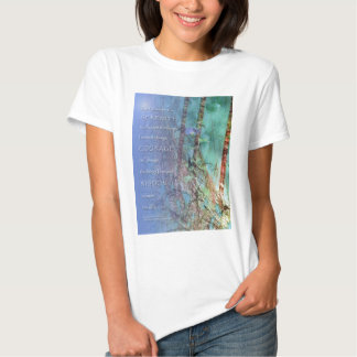 Serenity Prayer Blue Green Fence and Weeds Tee Shirt