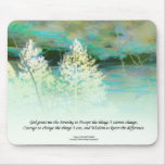 Serenity Prayer Blue Green Landscape Mousepad