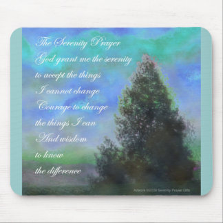 Serenity Prayer Blue Green Mouse Pad