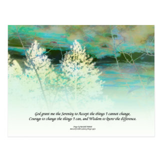 Serenity Prayer Blue Green Post Cards