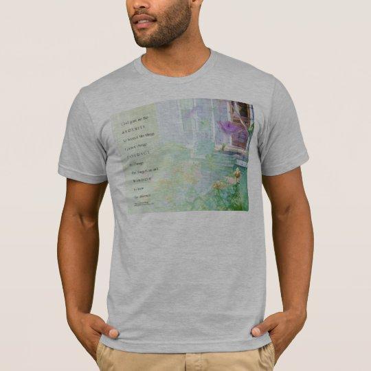 Serenity Prayer Blue House & Garden T-Shirt
