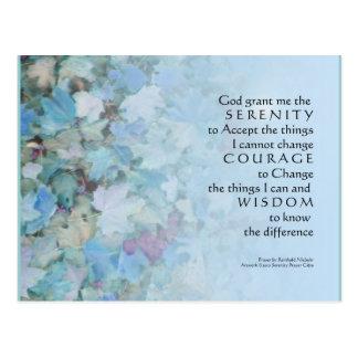 Serenity Prayer Blue Leaves Postcards