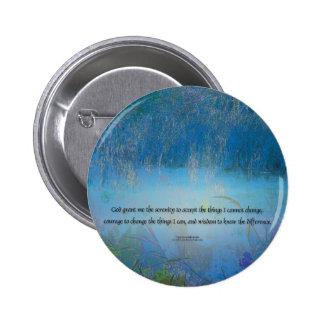 Serenity Prayer Blue Marsh Pinback Button