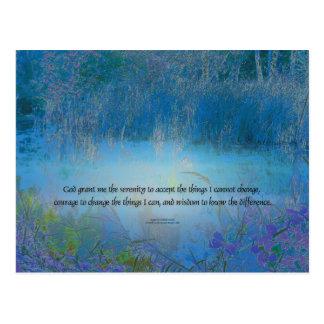 Serenity Prayer Blue Marsh Postcard