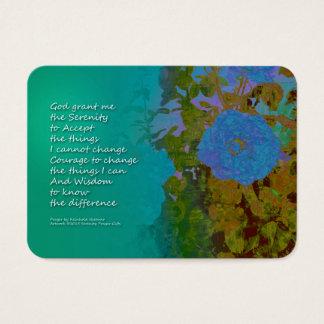 Serenity Prayer Blue Roses 2 Business Card