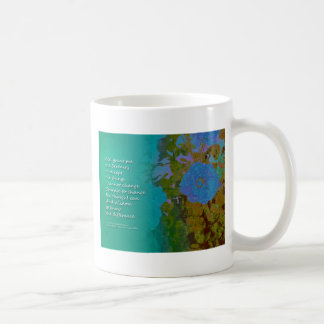 Serenity Prayer Blue Roses 2 Coffee Mug