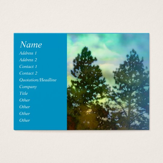 Serenity Prayer Blue Sky and Trees Profile Card