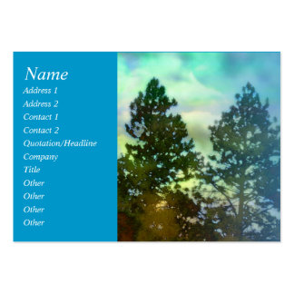 Serenity Prayer Blue Sky and Trees Profile Card Business Card