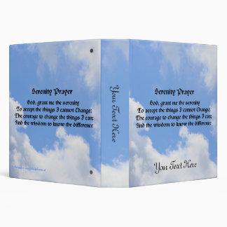 Serenity Prayer Blue Sky Clouds Nature Binder