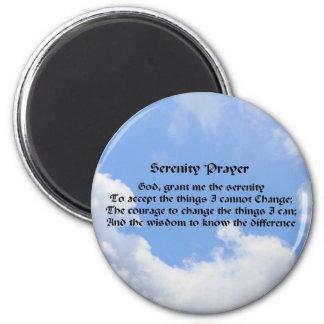 Serenity Prayer Blue Sky Inspirational Magnet