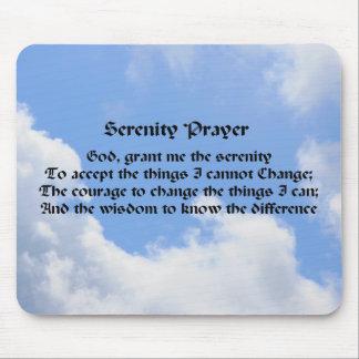 Serenity Prayer Blue Sky Inspirational Mousepad