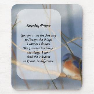 Serenity Prayer Bluebird Inspirational Mouse Pad