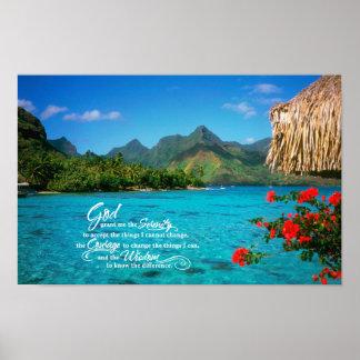 Serenity Prayer & Bora Bora Print