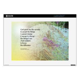 """Serenity Prayer Boulder and Butterfly Bush 15"""" Laptop Decal"""
