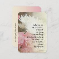 Serenity Prayer Bouquet Business Card