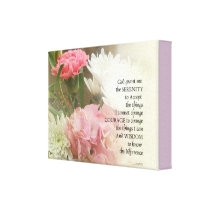 Serenity Prayer Bouquet Canvas Print
