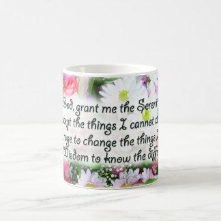 Serenity Prayer Bouquet Classic White Coffee Mug