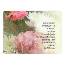 Serenity Prayer Bouquet Invitation