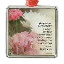 Serenity Prayer Bouquet Metal Ornament