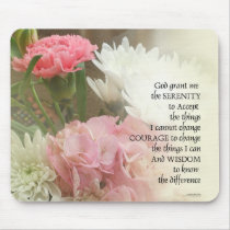 Serenity Prayer Bouquet Mouse Pad