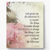 Serenity Prayer Bouquet Plaque