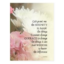 Serenity Prayer Bouquet Postcard